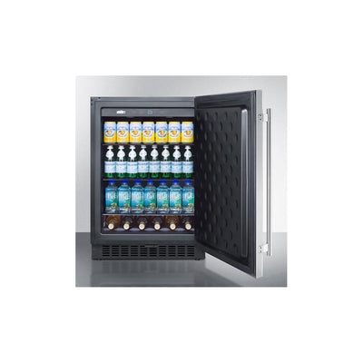 "Summit SPR627OSCSS 24"" Outdoor Refrigerator with Lock"