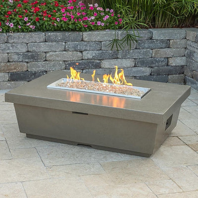 American Fyre Designs 783-SM-11-F4XC Contempo Rectangle Firetable