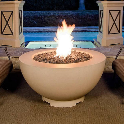 "American Fyre Designs 731-M6 Round 48"" Cafe Blanco Fire Bowl"
