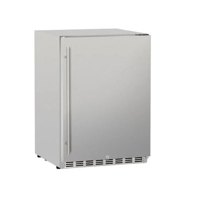 "Summerset SSRFR-24D 24"" Stainless Steel 5.3c Deluxe Outdoor Rated Refrigerator"