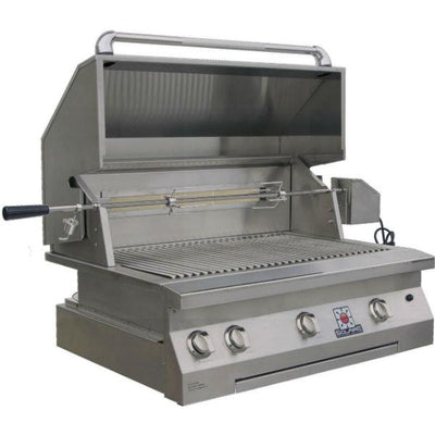 "Solaire SOL-AGBQ-36IR 36"" Stainless Steel Built-In Infrared Gas Grill w/ Rotisserie"