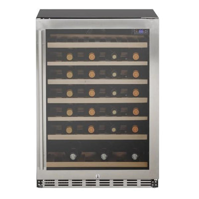 "Summerset SSRFR-24DWC 24"" Stainless Steel 5.3 cube Deluxe Outdoor Rated Wine Cooler"