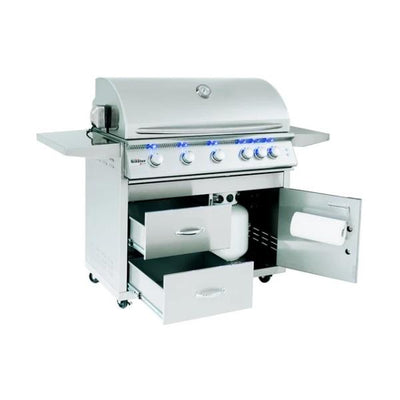 "Blaze Grills 40"" 5 Burner LTE Gas Grill With Rear Burner and Built-in Lighting System"