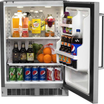 "Fire Magic 24"" Stainless Steel Outdoor Rated Refrigerator w/ Premium Door 3589-DR"