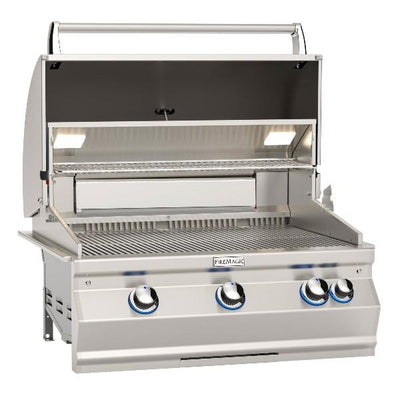 "Fire Magic Aurora A660i 30"" Stainless Steel Built-In Gas Grill w/ Back Burner & Magic View Window"