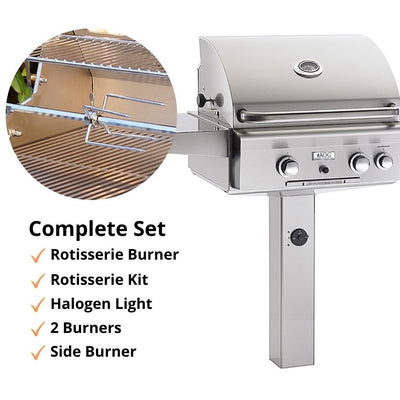 "American Outdoor Grill 24NGL Post Model 24"" 2 Burner Gas Grill"
