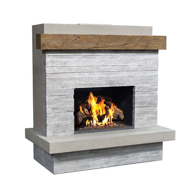 AFD 050-CG-N-XX-XXC Brooklyn Concrete Grey Vented Fireplace