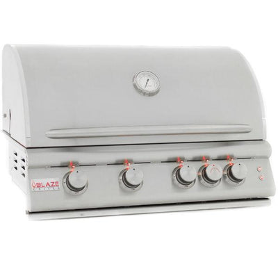 "Blaze 32"" Stainless Steel 4 Burner LTE Gas Grill w/ Rear Burner BLZ-4LTE2"
