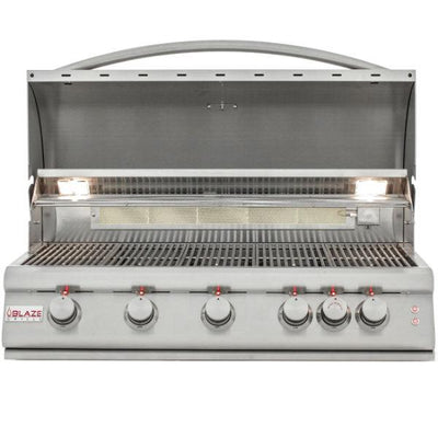 "Blaze 40"" Stainless Steel 5 Burner LTE Built-In Gas Grill w/ Rear Burner BLZ-5LTE2"