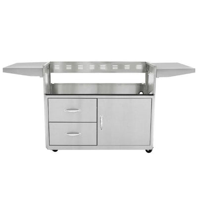 "Blaze 44"" Stainless Steel 4 Burner Professional Grill Cart w/ Shelves BLZ-4PRO-CART"