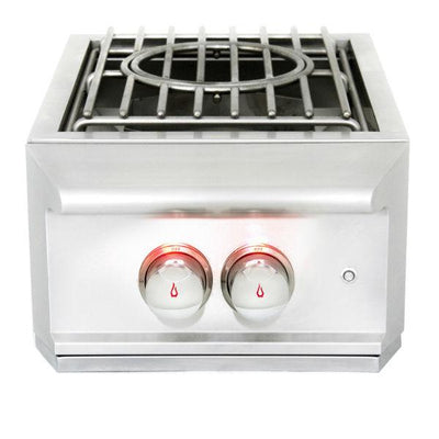 "Blaze Professional 10"" Stainless Steel Built-In Power Burner w/ Cover BLZ-PROPB"