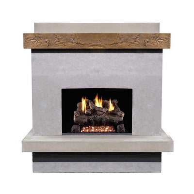 AFD 160-CG-N-XX-XXC Brooklyn Smooth Concrete Grey Vent-Free Fireplace