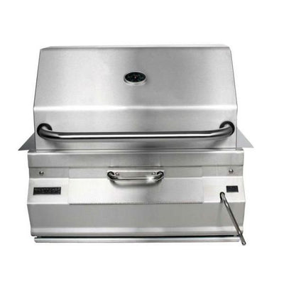 "Fire Magic 30"" Stainless Steel Built In Charcoal Grill w/ Warming Rack 14-SC01C-A"