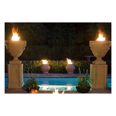 American Fyre Designs 765-CB-M2 Piage Fire Urn and Pedestal