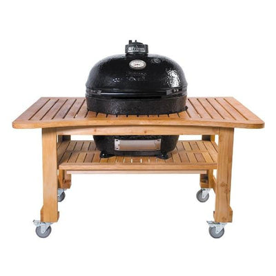 "Primo PGCXLH Oval XL 400 28"" Black Ceramic Charcoal Grill"