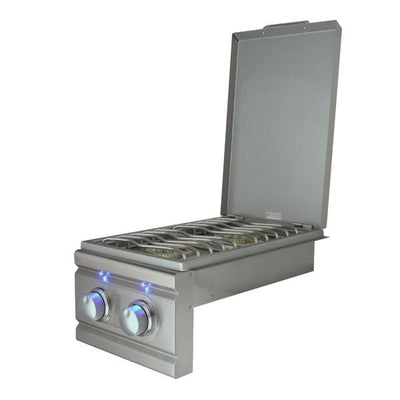 "RCS Grill Cutlass RDB1EL 13"" Stainless Steel Double Side Burner w/ Blue LED Light"