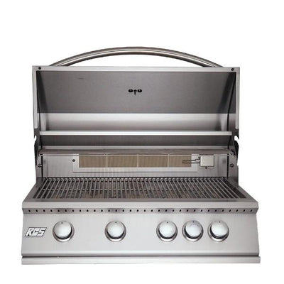 "RCS Grill RJC32A 32"" Stainless Steel Premier Drop-In Gas Grill w/  Rear Burner"