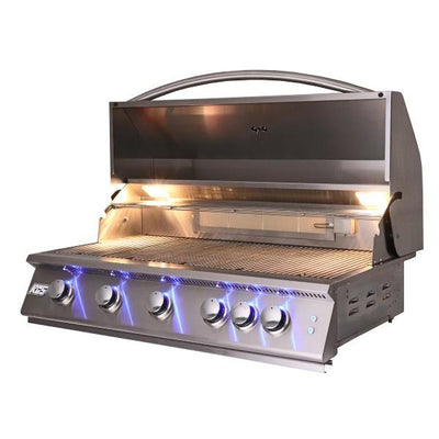 "RCS Grill RJC40AL  40"" Stainless Steel  Premier Built-In Gas Grill w/ LED Lights"