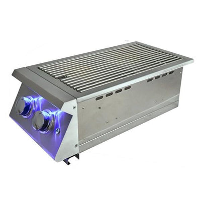 "RCS Grill Premier RJCSSBL 12"" Stainless Steel Double Side Burner With LED Lights"