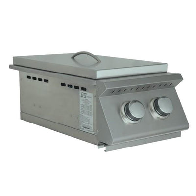 "RCS Grill Premier RJCSSB 12"" Stainless Steel Double Side Burner w/ Lid"