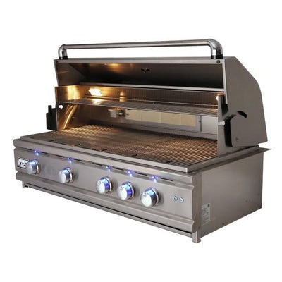 "RCS Grill Cutlass Pro RON42A 42"" Stainless Steel Built-In Gas Grill w/ Blue LED Light"