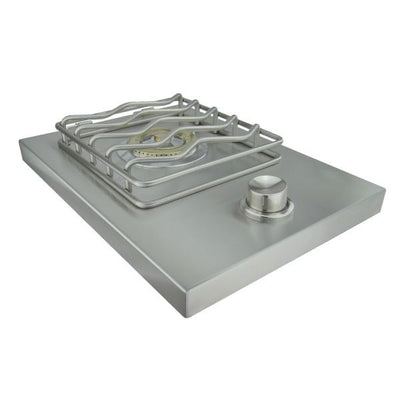 "RCS Grill Cutlass  RSB1 14"" Stainless Steel Single Side Burner w/ Lid"