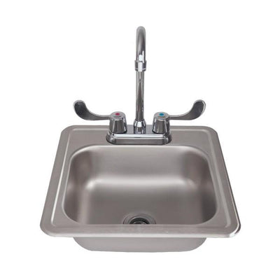 "RCS Grill RSNK1 15"" Stainless Steel Sink & Faucet w/ Strainer"