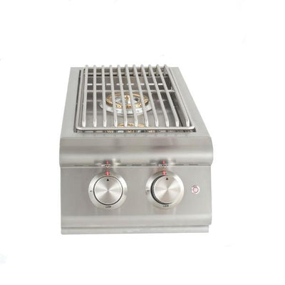 "Blaze 9"" Stainless Steel Built-In LTE Double Side Gas Burner w/ Lights BLZ-SB2LTE"