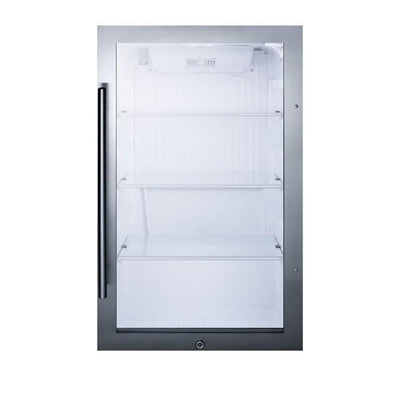 "Summit SPR489OS 19"" Glass 3.13 cu.ft. Indoor/Outdoor Beverage Cooler"
