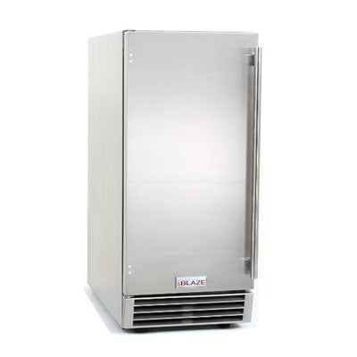 "Blaze 15"" Stainless Steel 50Lbs Outdoor Ice Maker with Gravity Drain BLZ-ICEMKR-50GR"