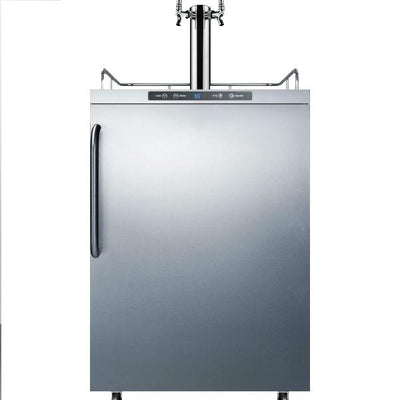 "Summit SBC635MOSTWIN 24"" Stainless Steel Automatic Freestanding Outdoor Kegerator"