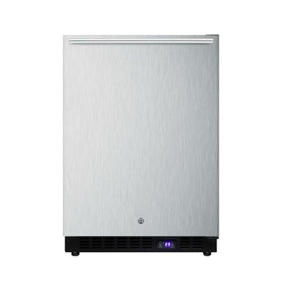 "Summit SPFF51OSCSSHH 24"" Stainless Steel Frost Free Outdoor Freezer"