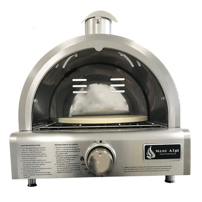 Mont Alpi Portable Table Top Pizza Oven MAPZ with door open and interior view