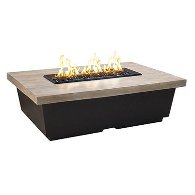 American Fyre Designs 783-SP-F4 Reclaimed Wood Cont Rect Firetable