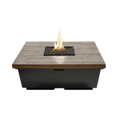 American Fyre Designs 784-SP-M2 Reclaimed Wood Cont Square Firetable