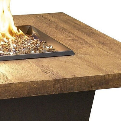 American Fyre Designs 783-F4 Reclaimed Wood Contempo Rect Firetable