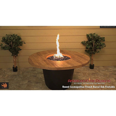American Fyre Designs 645-M2 Reclaimed Wood Cosmo Round Firetable
