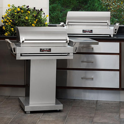 "TEC 36"" G-Sport Portable Infrared Gas Grill with Pedestal & Side Shelf"
