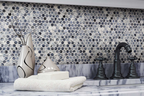 Penny Round - Bubbles Mosaic Tile Outlet Collection