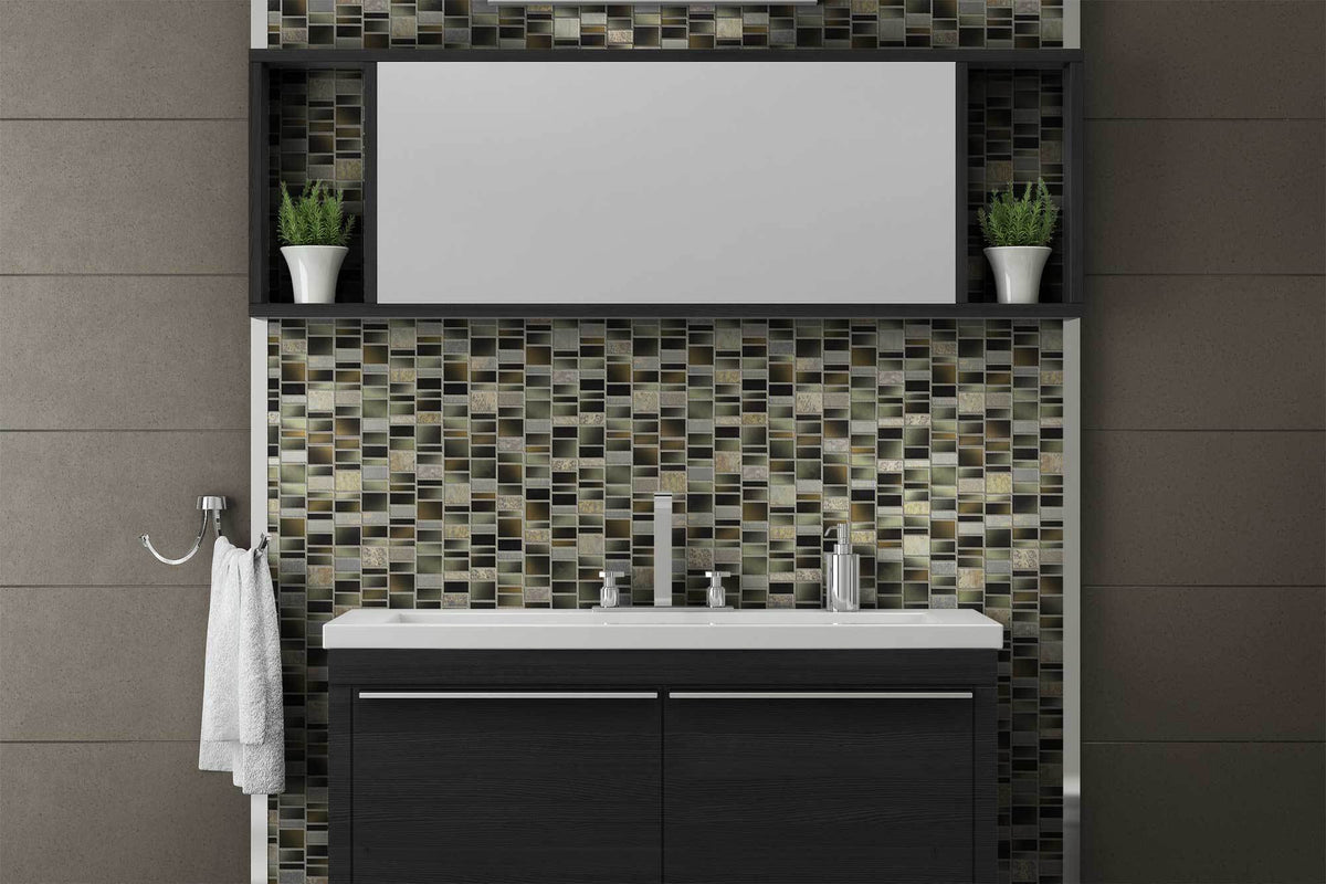 Charcoal Backsplash Feature Wall Bathroom Kitchen