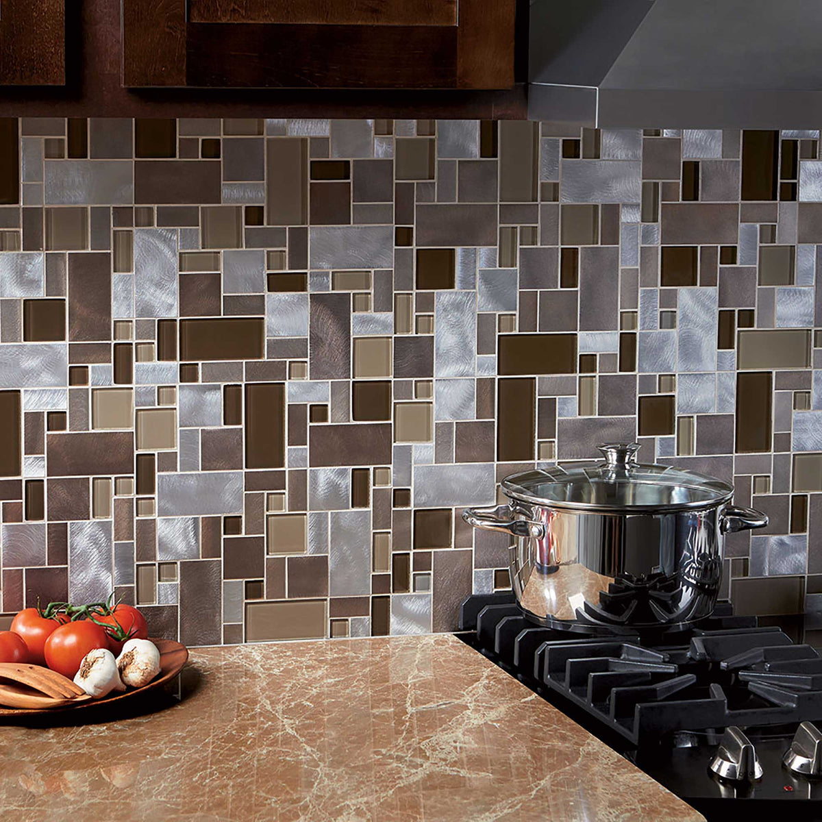 Metallic Mosaic Tiles Metallic Tiles Mosaic Tile Outlet