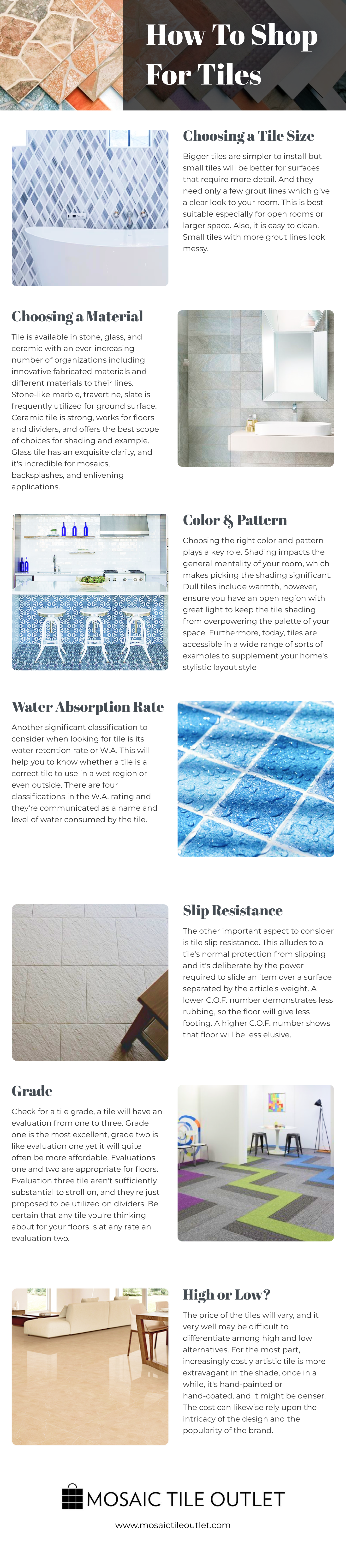 how to shop for tiles infographic