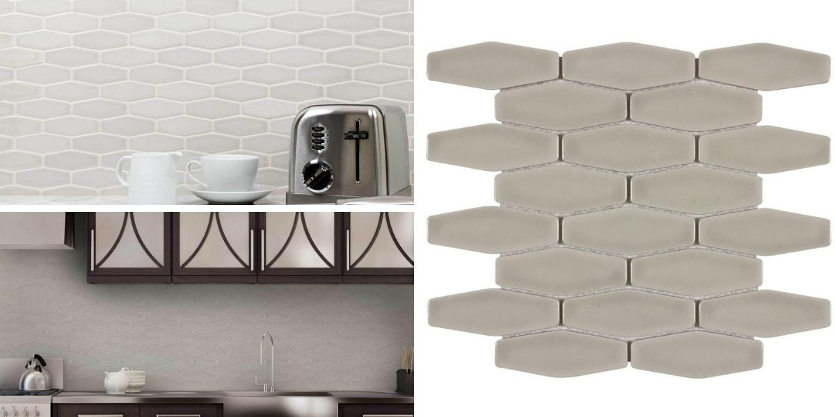 classic mosaic taupe glossy ceramic tile