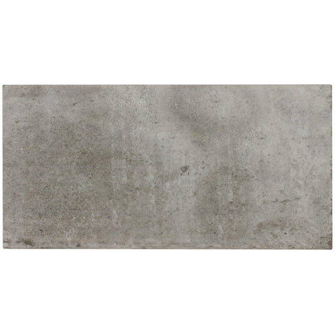 MTO0024 Classic 6X12 Large Brick Subway Gray Glazed Ceramic Tile - Mosaic Tile Outlet