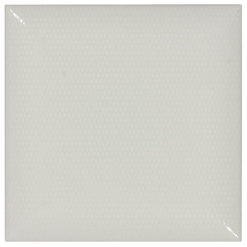 MTO0025 Classic 6X6 Pillowed White Glazed Ceramic Tile - Mosaic Tile Outlet