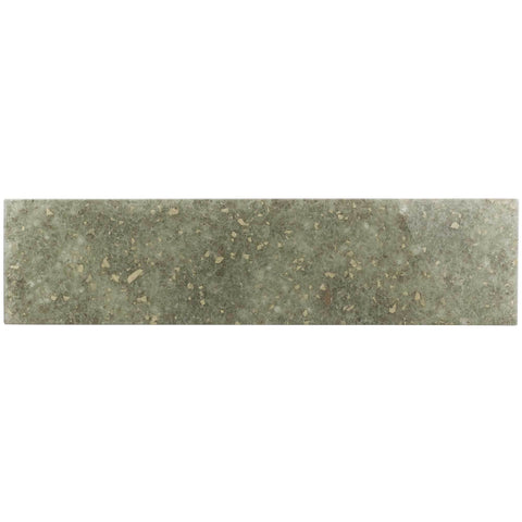 MTO0061 Modern 3X12 Subway Green Khaki Matte Glass Tile - Mosaic Tile Outlet