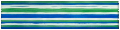 MTO0044 Modern 3X12 Subway Blue Green White  Glossy Glass Murano Tile - Mosaic Tile Outlet