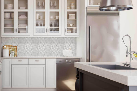 Miraculous Mto0119 Basket Weave White Gray Matte Etched Marble Mosaic Tile Download Free Architecture Designs Scobabritishbridgeorg