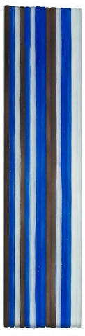 Front Modern Subway Blue White Brown Glossy Murano Tile