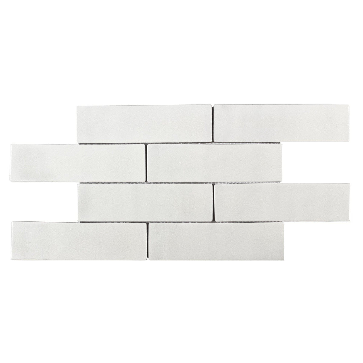 Mto0244 2x8 Subway Luxury Crackle White Glazed Ceramic